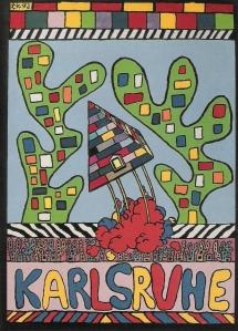 Postkarte Karlsruhe, designed by Christian Kastner, 1992