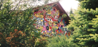 Streetart Germany Comic House painting